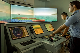 Simulator training at the Arab Academy for Science, Technology & Maritime Transport in Egypt